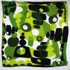 Jennie Jackson, Square Silk scarf in Green Topiary inspired design