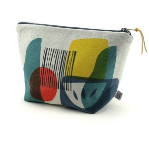 hand made hand printed troubadour wash bag