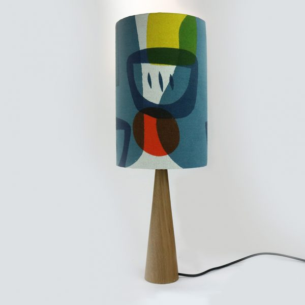 Jennie Jackson, Troubadour tall lampshade, hand made, hand printed