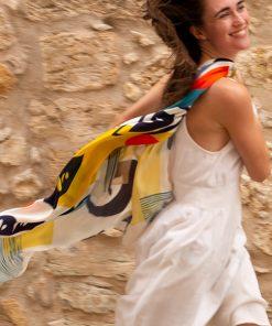 Troubadour silk scarf