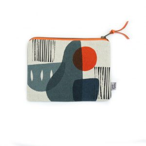 Jennie Jackson, Troubadour grey cosmetics bag
