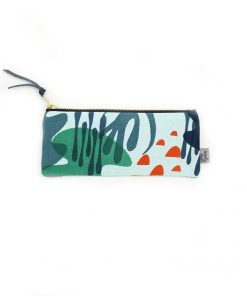 Jennie Jackson, Mangrove design pencil case hand printed on linen