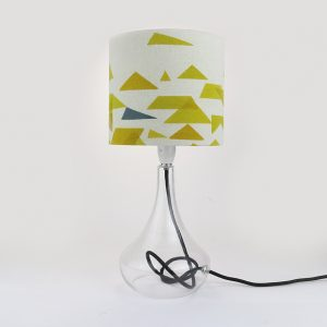 Jennie Jackson, St Ives design small drum lampshade hand printed on linen