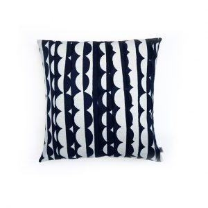 Jennie Jackson, Ada design square cushion hand printed on linen