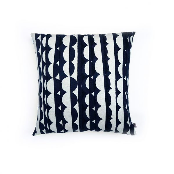 Jennie Jackson, Ada design square cushion hand printed on linen