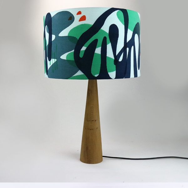 Jennie Jackson, Mangrove design lampshade hand printed on linen