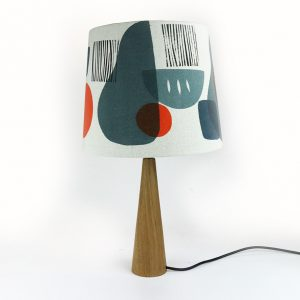 Jennie Jackson, Troubadour grey tapered lampshade